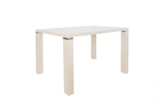 Стол обеденный глянец белый или бежевый DT517